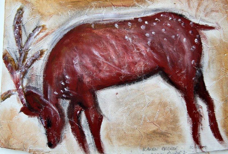 Bending Reindeer Painting