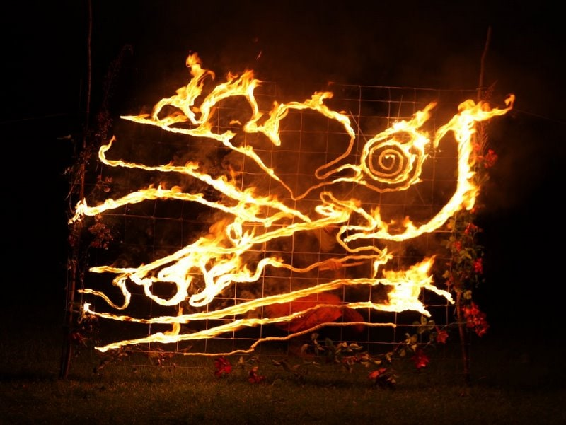 Hare Fire Sculpture